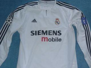 Real Madrid long sleeve Carlos #3 vintage Champ Lg football jersey