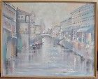 Venice Scene oil LARGE painting, LEE REYNOLDS from the 1960s