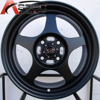 15X7.0 ROTA SLIPSTREAM WHEELS 4X100 RIMS +40MM FITS DEL SO 1992 1997