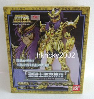 bandai saint seiya cloth myth scorpio milo action figure from