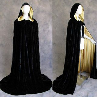 black velvet cape in Clothing,