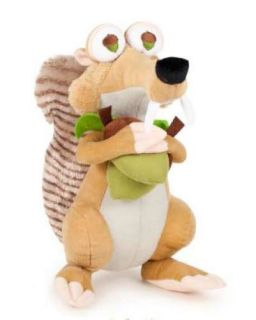 SCRAT SQUIRELL PLUSH SOFT TOY ICE AGE 4 BNWT CONTINENTAL DRIFT