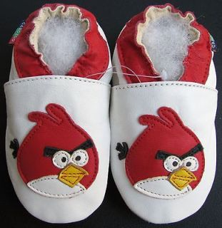shoeszoo new soft sole leather baby shoes angry bird white 0 6m S