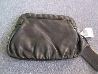 NWT Linea Pelle Black Samantha Studded Large Clutch Bag Purse