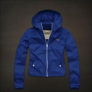 NEW HOLLISTER by Abercrombie Womens Spring Hoodie Jacket RainCoat