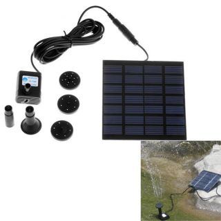 Solar Water Pump Power Panel Kit Fountain Pool Garden Pond Watering