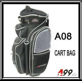 a08 14way full length divider golf cart bag deluxe black