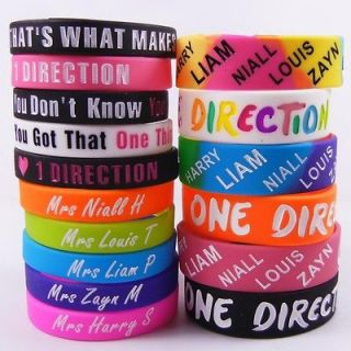 16X ONE DIRECTION SILICONE WRISTBAND RUBBE BRACELET I LOVE 1D