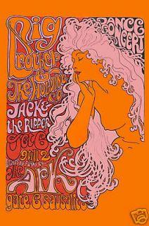 Classic RocK Janis Joplin & Big Brother The Ark Concert Poster Circa