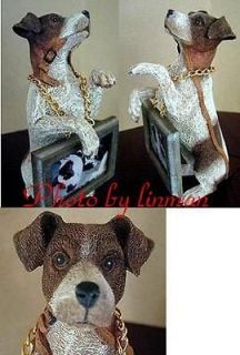 Newly listed JACK RUSSELL TERRIER FIGURE HOLDING PICTURE FRAME FOR 2x3