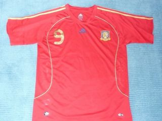 Spain Torres #9 original vintage football jersey soccer shirt mens XXL