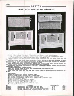 1936 ad Arrow Square Buffet Round Oak Coal Wood Ranges Stove Oven
