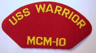 usn cap jacket patch uss warrior mcm 10 e1