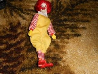 Vintage 1976 remco Ronald McDonald Action Doll Working