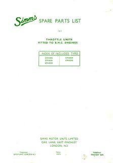 Simms PPs1 &3   PLS3   PLD 1 5 6 7 Feed Pump Parts manual