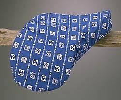 STUBBEN Blue White Embossed Logo 100% Cotton New Saddle Cover GP AP