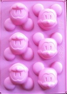 Silicone Mickey Mouse Muffin Cake Chocolate Soap Candle Pan Mold Tray