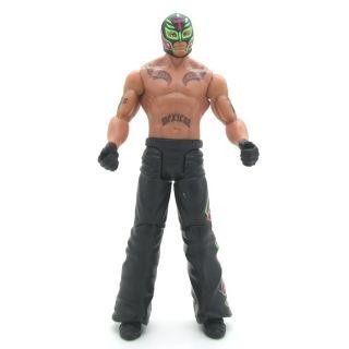 Mattel WWE Flexforce Flip Kickin Rey Mysterio Figure Green Loose