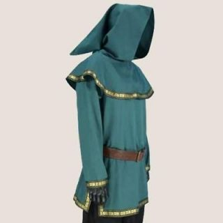 robin hood sherwood forest green archer tunic hood larp