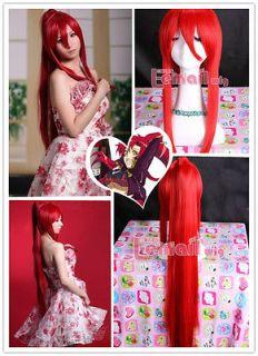 TENGEN TOPP Gurren Lagann Yoko Red Long Ponytail Anime Cosplay Party