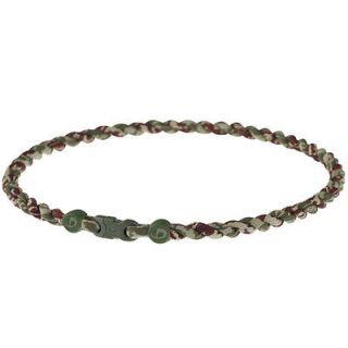 Phiten Tornado Titanium Necklace Brown/Green Camo   18 Inch