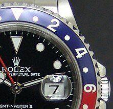 SS 40mm GMT Master II Blue Red Pepsi Bezel   16710 SANT BLANC