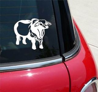 BRAHAM BULL COW CATTLE RANCH BEEF GRAPHIC DECAL STICKER VINYL CAR WALL