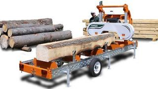 – NEW NORWOOD MANUAL BAND SAWMILL (CONVERTIBLE TO HYDRAULIC
