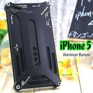 Black Aluminum Metal Bumper Frame Case Hard Full Body Cover for iPhone