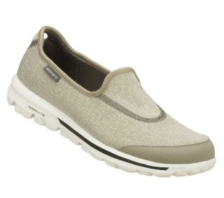 SKECHERS SHOES 13510 GO WALK WOMEN GRAY SPORT SLIP ON LIGHT WEIGHT