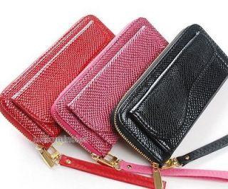 Lady Women Animal Print Gold Zipper Wallet Purse Check Book Coin Bag
