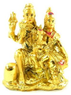Finished Resin Figurine Statue Hindu God, Shiva, Parvati, Ganesh  DR01