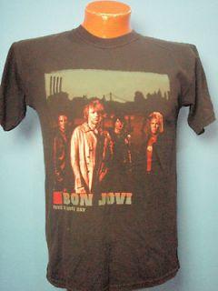 Rock T Shirt BON JOVI Have a Nice Day Tour 2005 2006 Size Medium