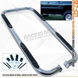 1997 2001 DODGE RAM PICKUP/TRUCK 1500/2500 QUAD CAB SIDE STEP NERF BAR