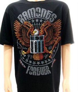 ramones rock punk band music tour biker t shirt sz xl