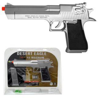 Licensed Desert Eagle .44 Magnum Spring Airsoft Pistol Gun Silver