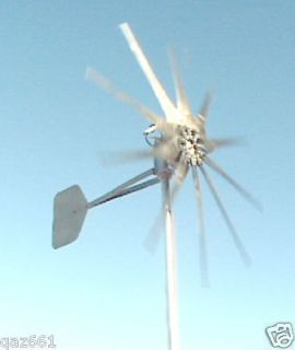 USED 1600W FIRE BIRD 48 Volt / 3 PHASE WIND TURBINE 10 PROP GENERATOR