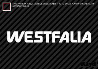 2x 18 westfalia sticker decal die cut
