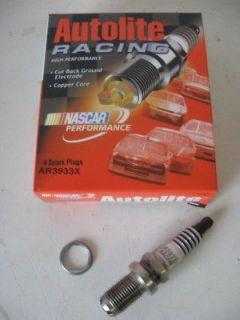 autolite ar3933x racing spark plug set 8 14mm 5 8