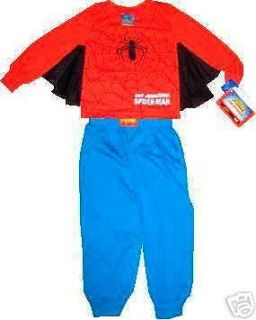 NWT 2 Pc Webbed Spider Man/Spiderman Costume/Pajamas (Sizes 4,6,8 or