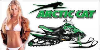 Snowmobile Chic 6   All Riders  Arctic Cat Snowmobile Banner Sno Pro