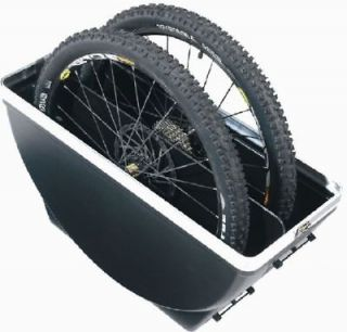 wheel bike hard plastic travel case dual safe shell