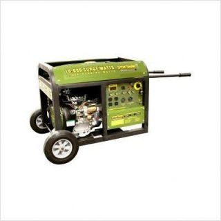 Portable 10,000 Watt Gas Gasoline Generator Electric Start 15 HP Wheel