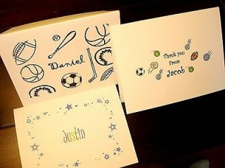 Note Cards, Blank Note Cards Stationery Thank You Cards FOR BOYS