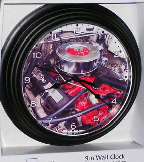 Plymouth 1965 Barracuda 273 Commando Engine, Custom Wall Clock