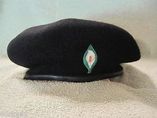 Irish Republican Easter Lily Embroidered Beret w/Irish Tri/Colors