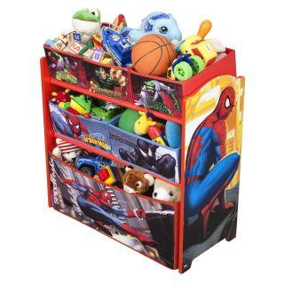 marvel comics spiderman storage bin toy box new time left
