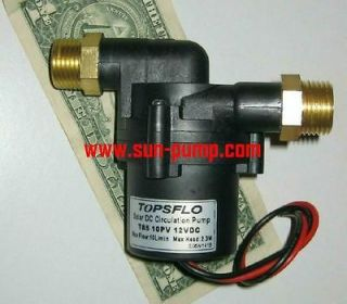 topsflo 10pv 12v solar powered hot water circulation pump time