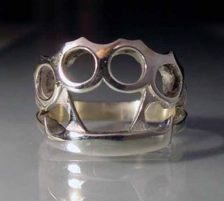 sterling silver 925 brass knuckles ring rg02 s from australia time