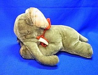 Very Rare Vintage German Sleeping Stuffed Animal Steiff Elephant #P